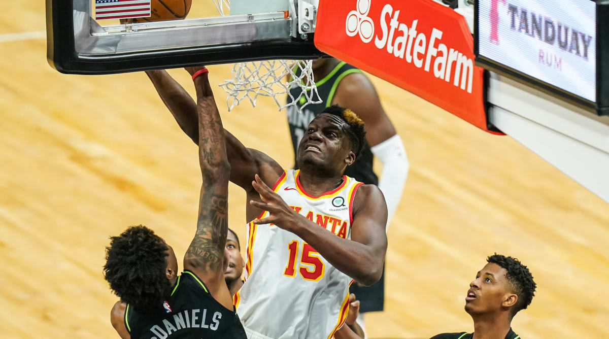 Clint Capela Notches Triple-Double With 10 Blocks in Hawks Win Over T-Wolves