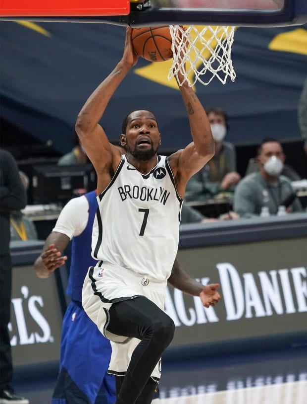 Kevin Durant goes for his third NBA title.