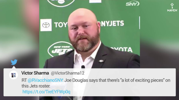 WATCH_ Joe Douglas Believes Jets Roster Has 'a Lot of Exciting Pieces' - HIRES