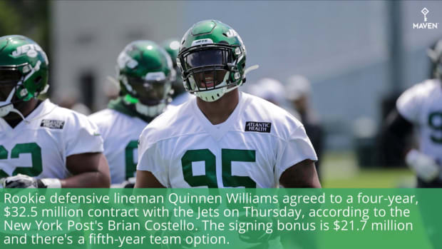 WATCH: Jets Reach Four-year Deal With Rookie Quinnen Williams