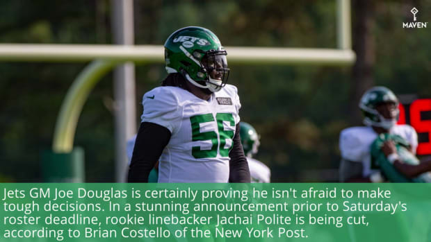WATCH: Jets Cut Rookie Jachai Polite in Shocking Roster Move