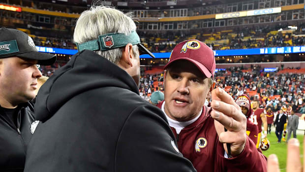 Redskins Jay Gruden Eagles Doug Pederson - Brad Mills-USA TODAY Sports