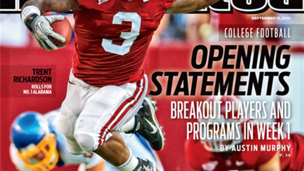 """Alabama """"Opening Statements"""" Sports illustrated cover, Sept. 13, 2010"""