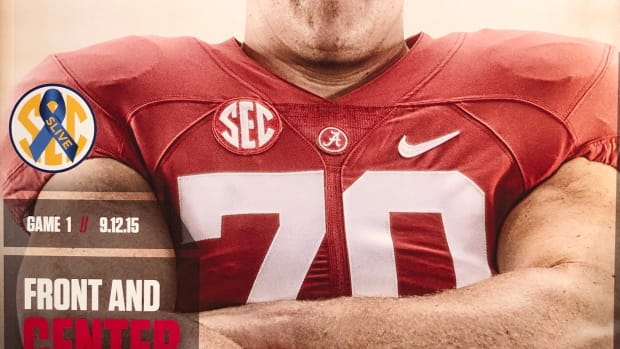 Ryan Kelly game cover, Sept, 12, 2015 vs. Middle Tennessee