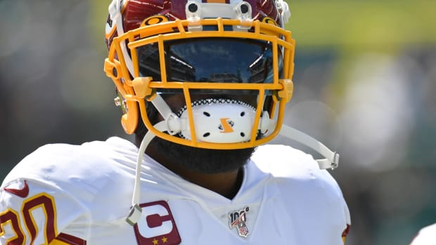 Sep 8, 2019; Philadelphia, PA, USA; Washington Redskins strong safety Landon Collins (20) on field against the Philadelphia Eagles at Lincoln Financial Field.
