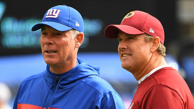 Pat Shurmur | Jay Gruden | Robert Deutsch-USA TODAY Sports
