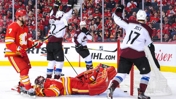 calgary flames playoffs rebound