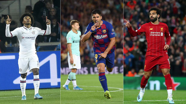 Willian, Luis Suarez and Mohamed Salah all score in Champions League