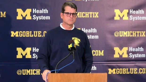 2019-10-07 Jim Harbaugh on developing QBs