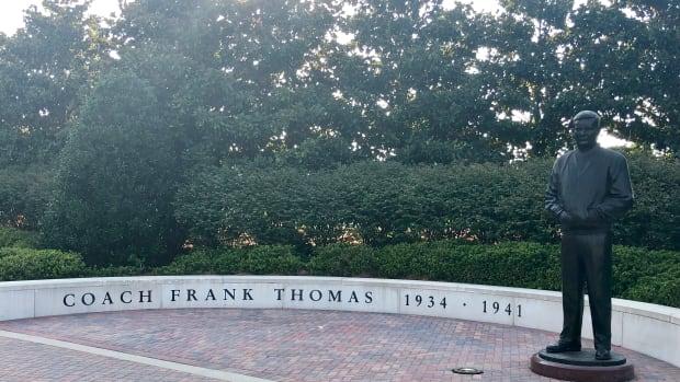 Frank Thomas statue on the Alabama Walk of Champions