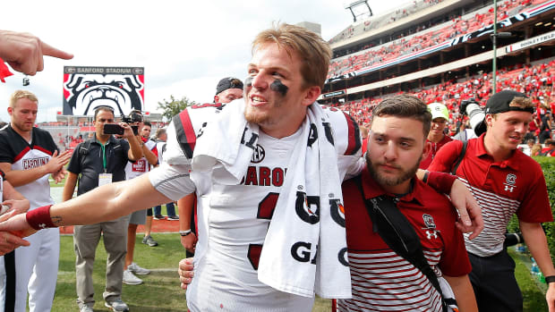 South Carolina football Georgia Ryan Hilinski injury