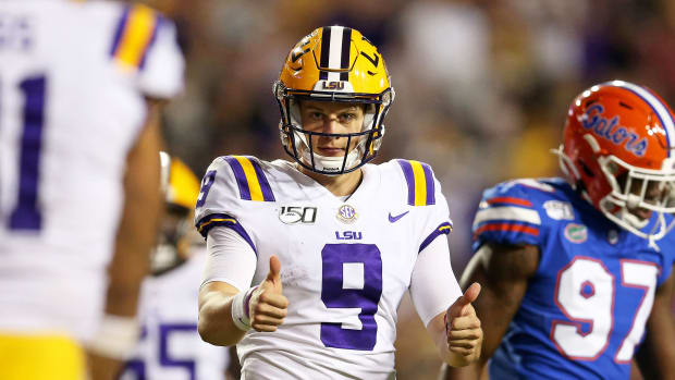 LSU vs Florida football Joe Burrow 2019