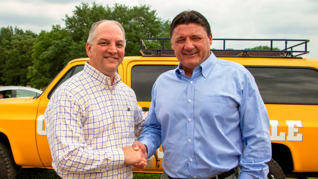 LSU football Ed Orgeron governor John Bel Edwards