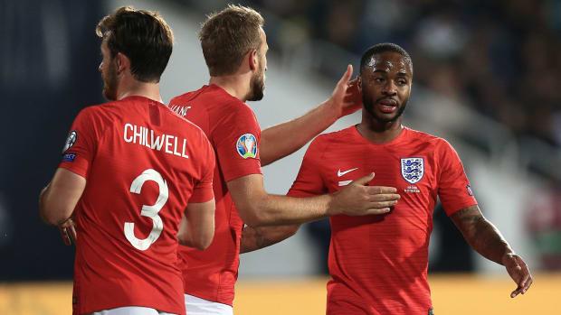 Raheem Sterling scores for England vs Bulgaria