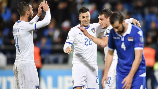 Italy routs Liechtenstein in Euro 2020 qualifying