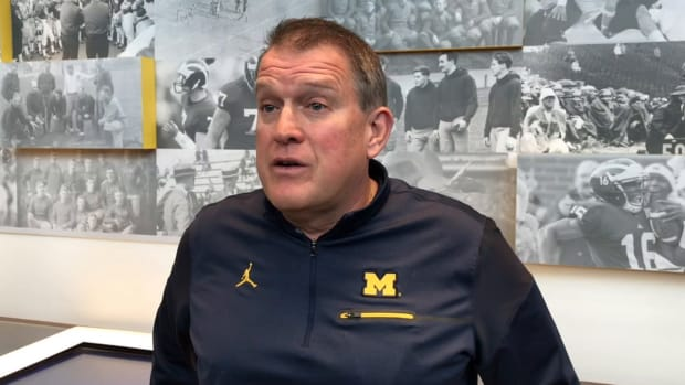 2019-10-16 Ed Warinner on running game getting going against Illinois