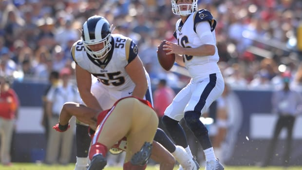 Los Angeles Rams quarterback Jared Goff should benefit from an improved running game in 2020.