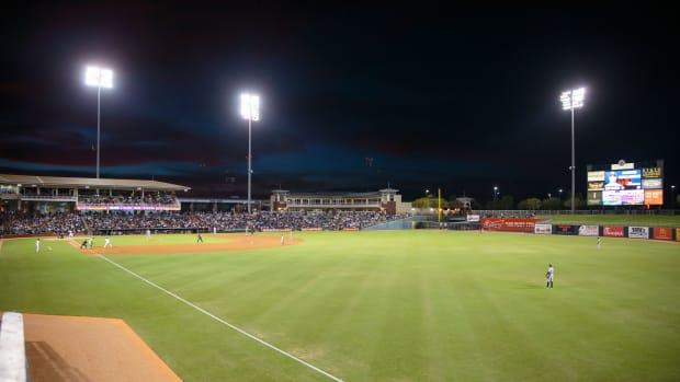 A minor league baseball stadium