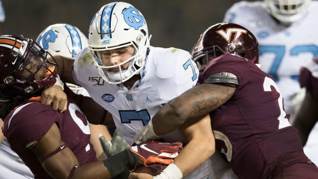 UNC Virginia Tech football Sam Howell