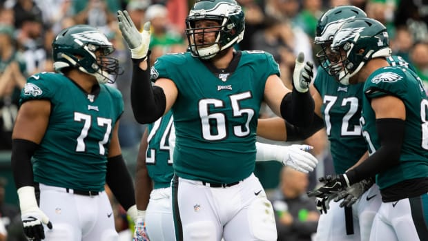Right tackle Lane Johnson hinted that some Eagles players have gotten away with showing up late for meetings and practices