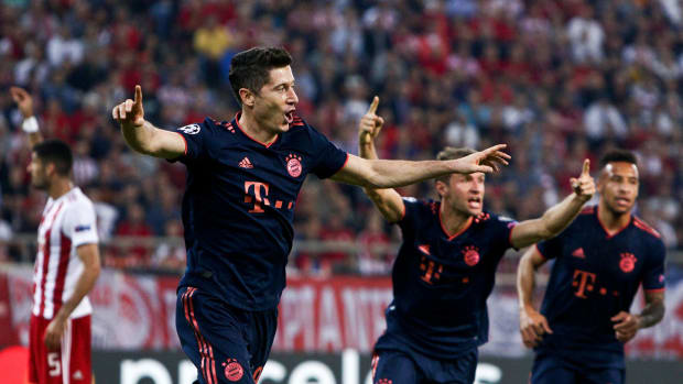 Robert Lewandowski is on fire for Bayern Munich