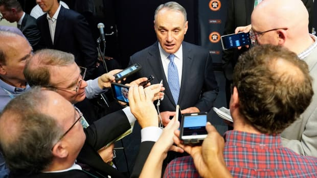 Rob Manfred says he's 'concerned' with Astros executive's outburst