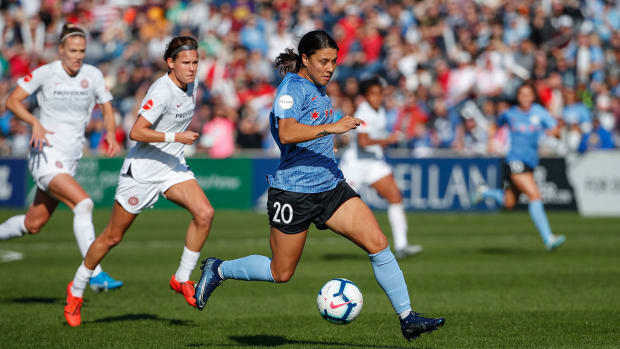 Sam Kerr has led the Chicago Red Stars to the NWSL title game.