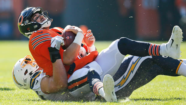 Trubisky in Bears' loss to Chargers