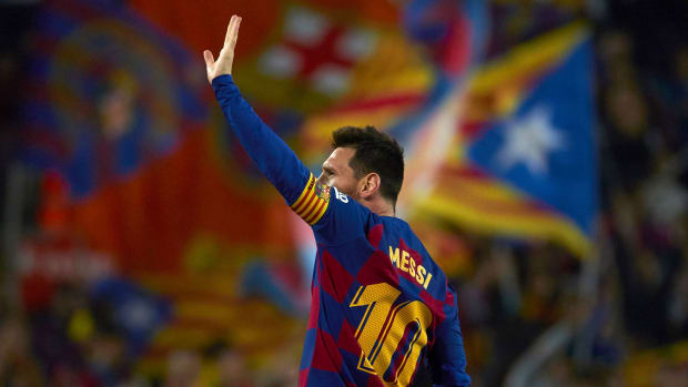 Lionel Messi had two goals and two assists vs Real Valladolid