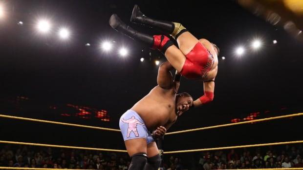 WWE's Keith Lee wrestles Dominik Dijakovic on NXT
