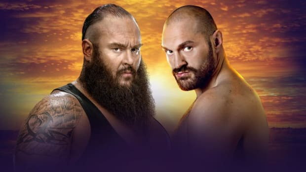 Braun Strowman and Tyson Fury in a promotional image for WWE Crown Jewel