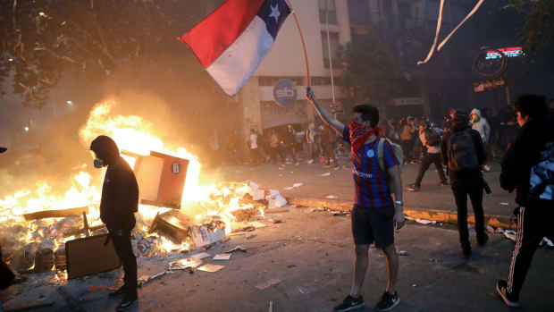 Protests have been constant in Santiago, Chile