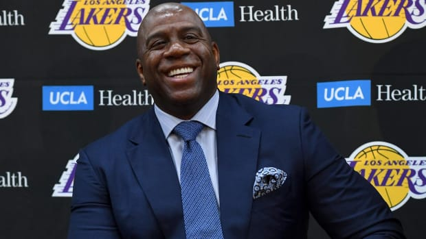 Magic Johnson Steps Down As Lakers President of Basketball Operations--IMAGE