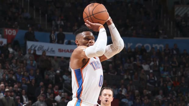Russell Westbrook Records 10th Straight Triple-Double, Breaks Wilt's Record--IMAGE