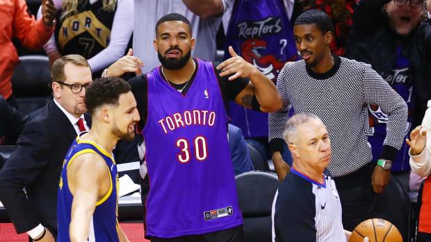 Drake NBA Finals Raptors Warriors