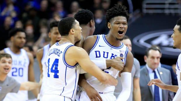 Duke Erases 23-Point Second Half Deficit, Defeats Louisville 71-69--IMAGE