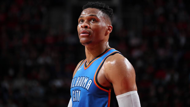 Report: Thunder Trade Russell Westbrook to Rockets For Chris Paul, Picks--IMAGE