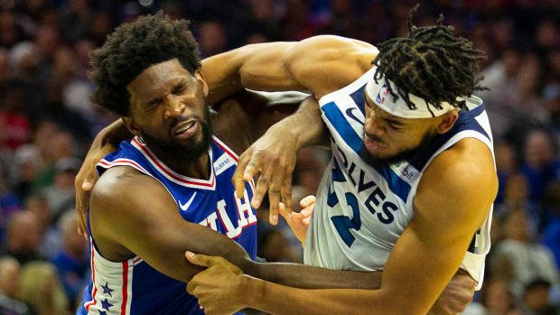 Joel Emiid, Karl-Anthony Towns suspended