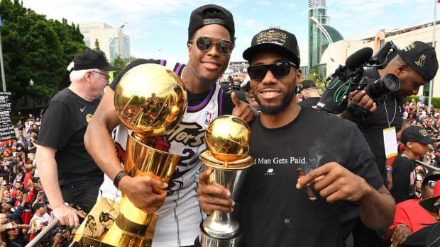Kawhi Leonard Lets Loose At Raptors' Championship Parade