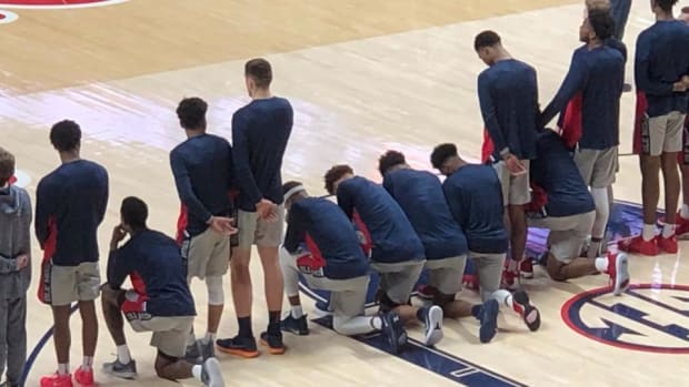 Several Ole Miss Players Kneel During National Anthem vs. Georgia - IMAGE