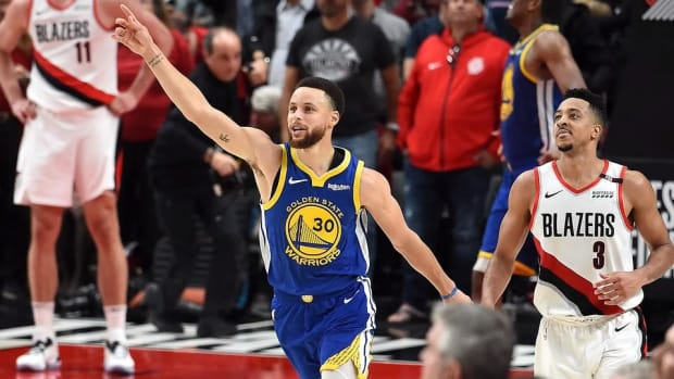 Warriors Complete Sweep of Blazers, Head to Fifth Straight NBA Finals--IMAGE
