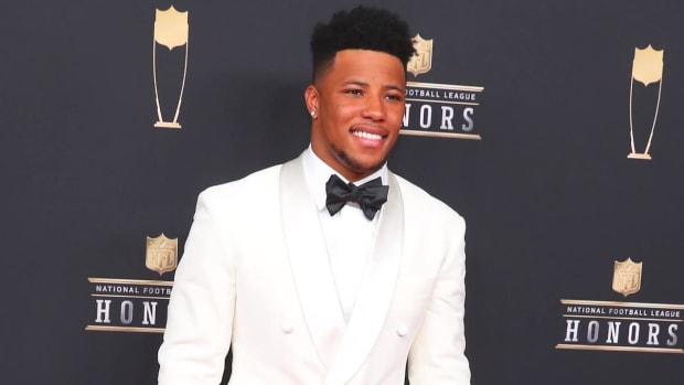 Giants RB Saquon Barkley Wins Offensive Rookie Of the Year--IMAGE
