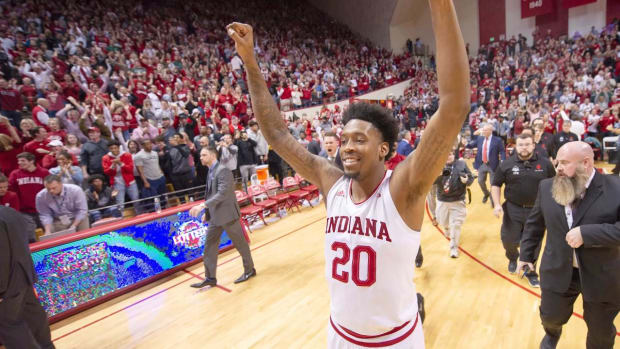 Indiana Shocks No. 6 Michigan State to Complete Season Sweep Ahead of NCAA Tournament--IMAGE