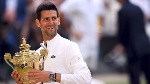 Novak Djokovic Defeats Roger Federer in Epic Five-Set Match for Fifth Wimbledon Title--IMAGE