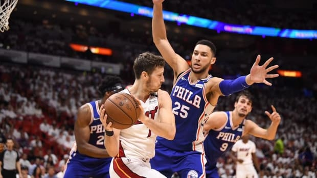Ben Simmons' Triple-Double Leads The Sixers Past The Heat In Game 4--IMAGE