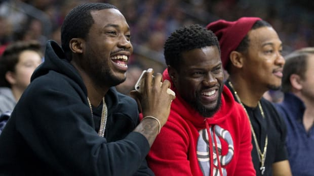 76ers Co-Owner Michael Rubin Announces Meek Mill Was Released From Prison--IMAGE