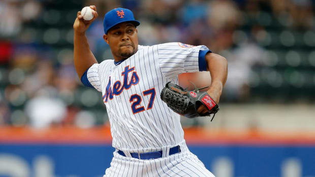 A's Acquire Mets Closer Jeurys Famila in Exchange for Two Prospects--IMAGE