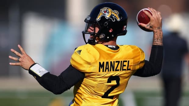 Tiger-Cats Coach June Jones Says 'No' Scenario Johnny Manziel Will Start Week 1 - IMAGE