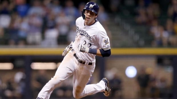 Brewers' Christian Yelich Hits For Cycle Against The Reds, Again--IMAGE