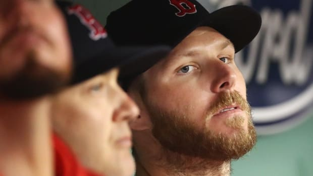 Red Sox Ace Chris Sale Back on 10-Day DL With Shoulder Inflammation--IMAGE